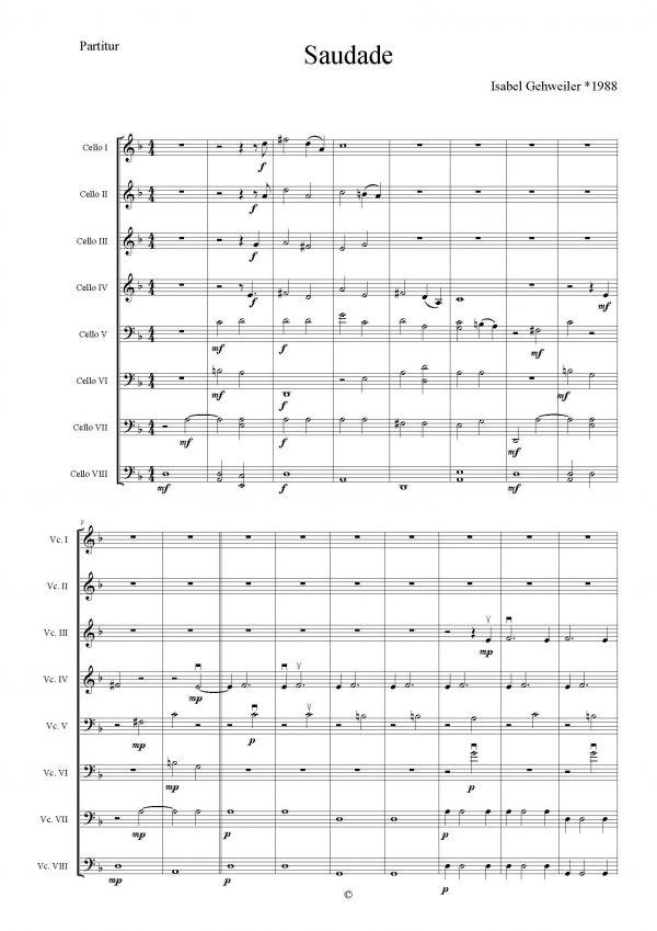 Isabel Gehweiler - Saudade for 8 Cellos_Seite_01